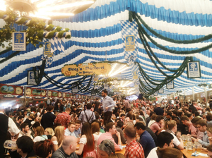 Missing out on Oktoberfest? Don't you worry, Frülingsfest is there.
