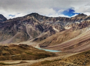 In to the Wilderness - The blue dot of the Chandratal lake trek