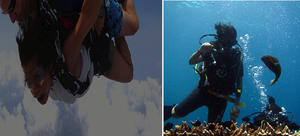 Doing the unconventional in Thailand!! Skydiving and Scubadiving..!!!