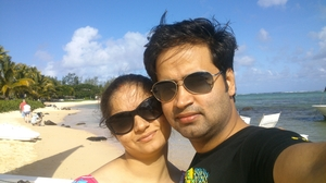 Love on the beach...Mauritius