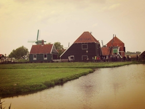 Exploring windmills in the scenic Dutch countryside