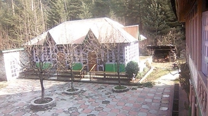 Kasol with a backpack