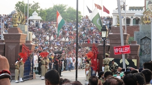 A Peep Into Pakistan - at the Attari-Wagah Border
