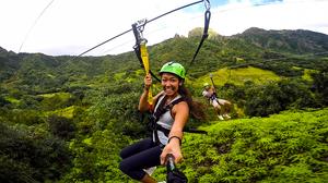 Zip Lining in Jurassic Park on Oahu, Hawaii