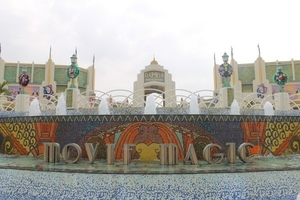 Behind the sets of Ramoji Film City, Hyderabd