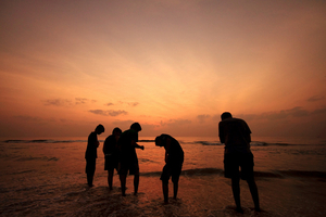 The coastline of Chennai