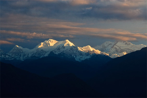 Mighty Kangchenjunga under Midnight Moon