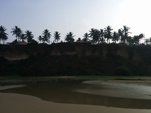 Varkala- Beach with a cliff