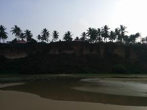 Varkala- Beach with a cliff
