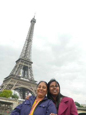 Love for Paris with family.