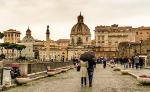 Love, rain and Rome.