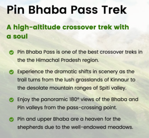 Pin Bhaba Pass – A challenging high-altitude crossover trek