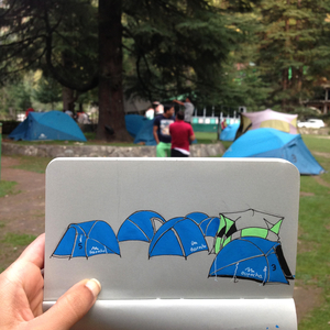 How I escaped monotony of life in the Himalayas with the help of a sketch book