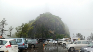 Sinhagad Fort, Pune,  with heavy rain and awesome foggy cloudy climate!