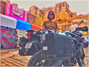 Woman Biker  Rides Across Rajasthan on a Triumph Tiger