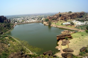 Out into the Badami sun