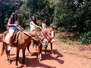 Walking along the railway tracks: Matheran