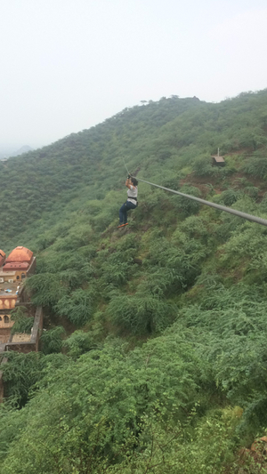 Ziplining At Neemrana Fort ! An Amazing Experience