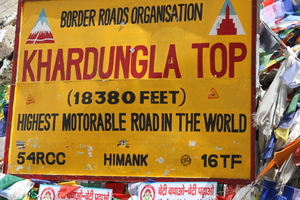 Khardung La is NOT the world's highest motorable road, not even highest in India!