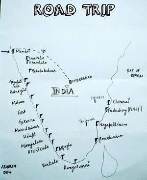 Its All about Beaches,Solo Ride through 5 States of India, 3000km