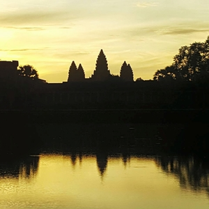 Beautiful sunrise at Angkor Wat, Cambodia
