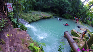 Climbing Water Falls in Jamaica