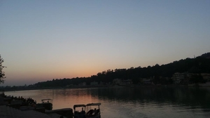 "Rishikesh_""How glorious a greeting the sun gives the mountains!"""