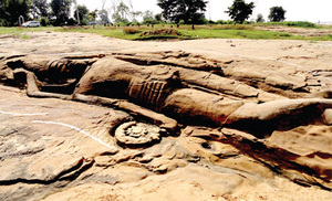 Largest Rock-Cut Structure of Lord Vishnu