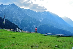 To Triund through a hailstorm