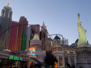 Modern Las Vegas and  Old Western Deadwood