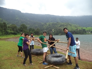 #BeatTheHeat with Raft Building-River Crossing in Wai by I-Camp Resort