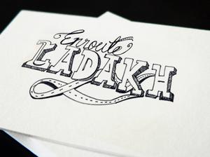 Typographic Affair with Ladakh