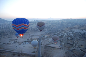 Up in the Air Over Cappadochia Skies