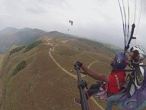 Tandem Paragliding 2015 , Vagamon, Kerala