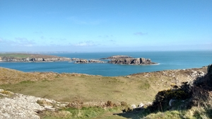 Beautiful Islands of Pembrokeshire - off the rocky coastline