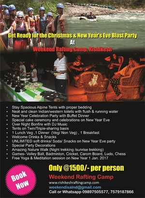 New Year's Eve Blast Party At Weekend Rafting Camp