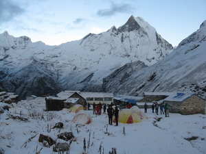 Annapurna base camp trekking in Nepal Himalaya