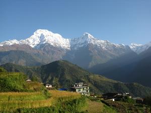 Annapurna base camp trekking in Nepal Himalaya