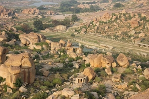 Magnificent ruins of Hampi