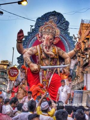 Parade of Ganpati Visarjan
