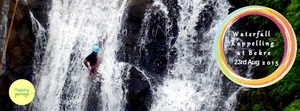 Waterfall Rappelling at Bekre on 23rd August 2015!