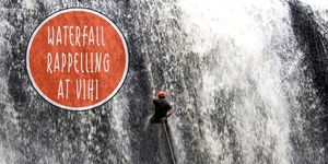 Waterfall Rappelling at Vihigaon(Ashoka waterfall) 10th July 2016!