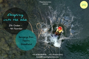 Escaping into the Blue - Ramganga, Uttarakhand