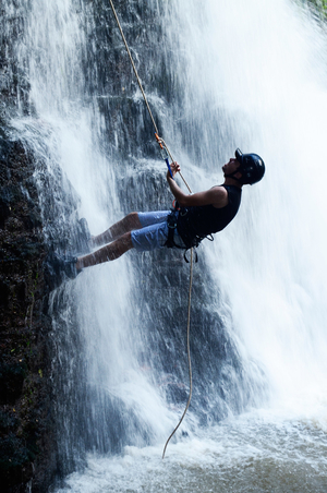 Waterfall Rappelling & Flying Fox at Canyon Valley