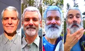 Beard love: This hiker grew facial hair to commemorate his adventures