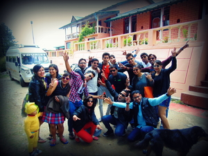 Mukteshwar with Group of crazy friends