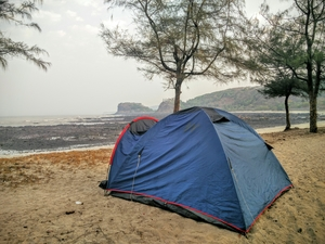 Overnight Beach camping near Kashid