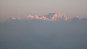 The beautiful sunrise of Kanchenjunga
