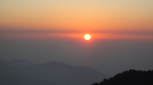 The beautiful sunrise of Kanchenjunga