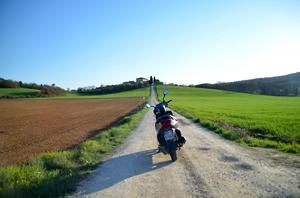 Tuscany on a vespa